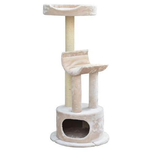 PP1574 Modern Fleece Collection - BOSS - Multi-Level Plush Fleece w/ Massive Look Out Perch, Plush Padded Lounge and Condo Hideout for Cat