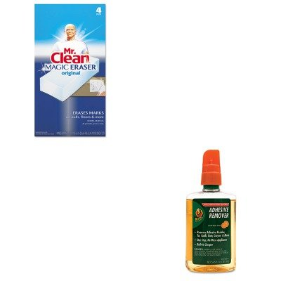 KITDUC000156001PAG82027 - Value Kit - Duck Adhesive Remover (DUC000156001) and Mr. Clean Magic Eraser Foam Pad (PAG82027)