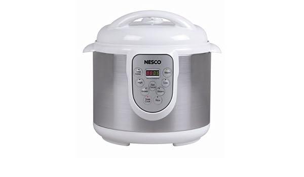 NESCO PC614 WHITE 4IN1 PRESSURE COOKER 6LITER STEAMER RICE /&