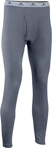 Indera Men's Mesh Knit Performance Thermal Underwear Pant with Silvadur, Slate, Medium (Knit Thermal Performance)