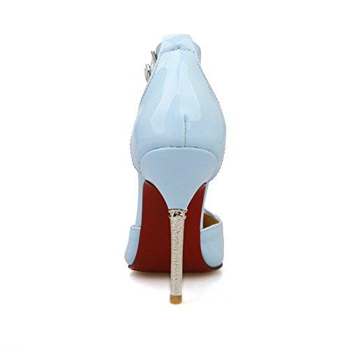 1to9 Filles Avec Des Escarpins En Polyuréthane À Pointe Diamantée, Bleu (lightblue), 35