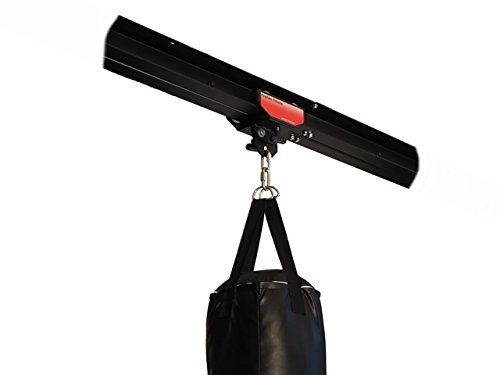 Firstlaw Fitness I-Beam Rolling Mount for Punching Bag & 4 Foot Rail Combo - RED Rolling Mount - Made in the USA by Firstlaw Fitness