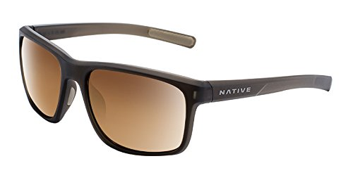 Native Eyewear Wells Sunglass, Dark Crystal Brown, Bronze Reflex