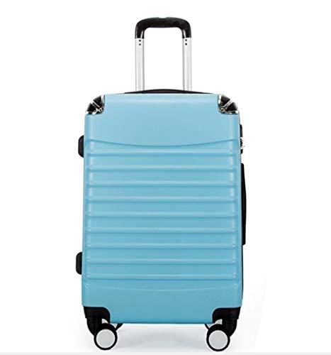 ラップアングルトロリーケース20インチスーツケースabsユニバーサルホイールジッパースーツケーストラベルケース (Color : スカイブルー)  スカイブルー B07QHVNRD1