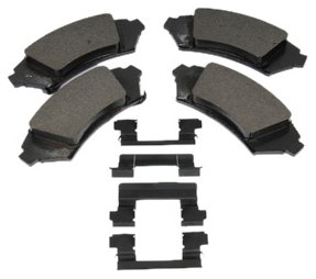 ACDelco 171-654 GM Original Equipment Front Disc Brake Pad Kit with Brake Pads and Clips ()