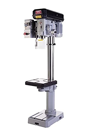 "Dake 77700-1V Model SB-250V Floor Drill Press with Locking Hub, 1"" Drill Capacity Auto Feed and Variable Speed, 110V"