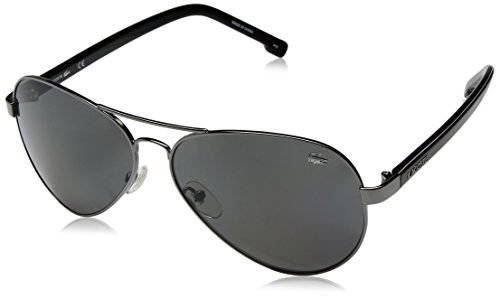 Lacoste L163sp Polarized Aviator Sunglasses, Gunmetal, 62 - Aviators Lacoste
