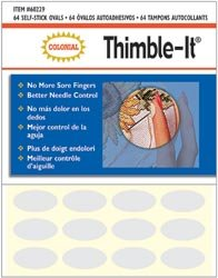 Colonial Needle Bulk Buy Thimble It Finger Pads 64 Pack 60229 (3-Pack) by Colonial Needle