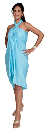 World Swimsuit 1 Turquoise Women Sarongs For Clear Sarong Unicolore pqFngwA0