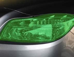 "Glossy Green Fog Lights Tail Lights KOMAS 12/"" X 48/"" Tint Vinyl Film Sticker Sheet Roll for Car Headlight"