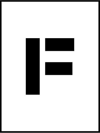 NMC PMC36-F 36''Stencil Letter ''F'', Pack of 5 pcs by National Marker
