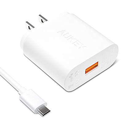 AUKEY 18W Wall Charger with Qualcomm Quick Charge 2.0