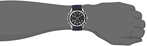 U.S. Polo Assn. Sport Men's US9137  Blue Silicone Analog Digital Sport Watch