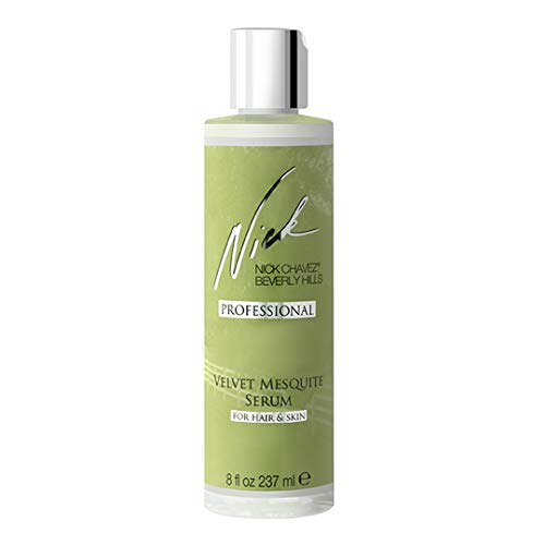 Beverly Hills Shine Drops - Nick Chavez Beverly Hills Professional Velvet Mesquite Serum For Hair And Skin - Premium Hair and Skin Moisturizer, Thicker and Stronger Hair - Megasize 8 fl oz