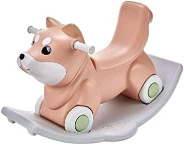 KOIUJ Rocking Horse Toy for Boy Girl Christmas Birthday Gift, Multifunction Ride Toy Strong and Sturdy Environmentally Friendly and Tasteless (Color: Orange)
