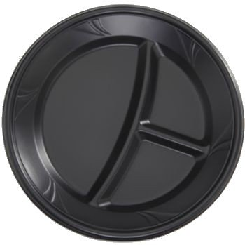 Finesse Negro Microondas de plástico Compartimiento de 25,4 cm ...