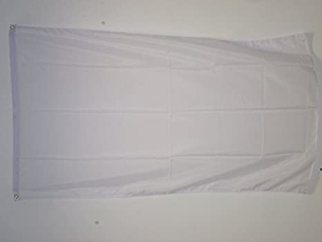 AZ FLAG Bandera Unicolor Blanco 150x90cm - Bandera Blanca 90 x 150 cm poliéster Ligero
