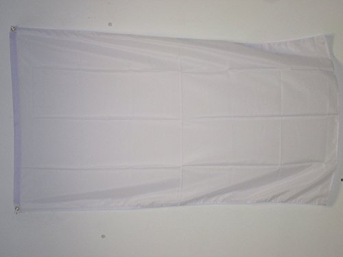 AZ FLAG Plain White Flag 2' x 3' - White Solid Color Flags 60 x 90 cm - Banner 2x3 ft