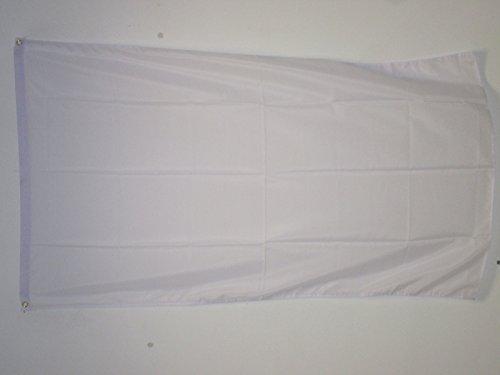 PLAIN WHITE FLAG 2' x 3' - WHITE SOLID COLOR FLAGS 60 x 90 c