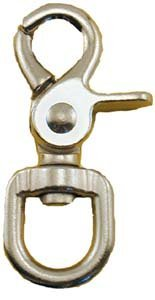 Quality Chrome 2-3/4' Trigger Snap Hook 5/8' Swivel Eye - Great for Pet Leashes, Bag Straps