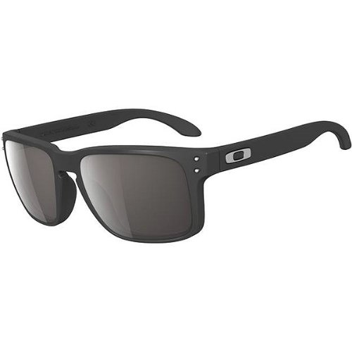 Oakley Holbrook Men's Designer Sunglasses - Matte Black/Warm Grey / One - Kids Oakley Sunglasses