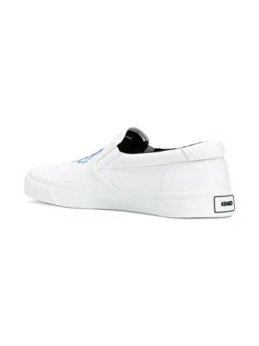 Kenzo Slip On Sneakers Uomo F855SN100F7201 Cotone Bianco