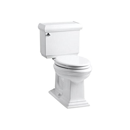 KOHLER K-3816-0 Memoirs Comfort Height Two-Piece Elongated 1.28 gpf Toilet with Classic Design, (Classic Toilet)