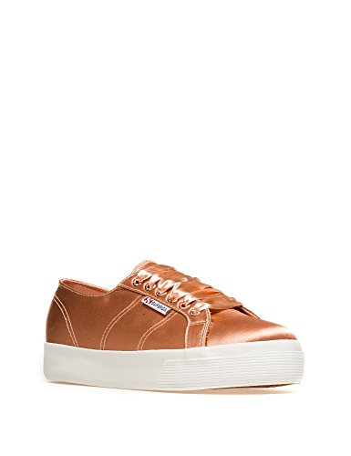 Sneaker Donna Superga 2730-satinw In Oro 100% Poliestere Oro
