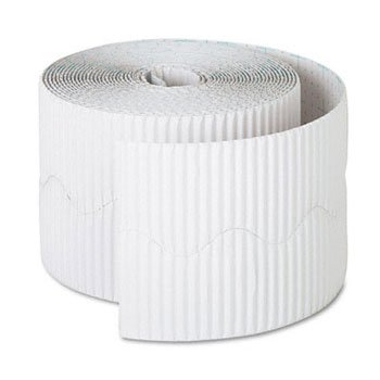 Bordette Decorative Border, 2 1/4'' x 50' Roll, White, Sold as 1 Roll
