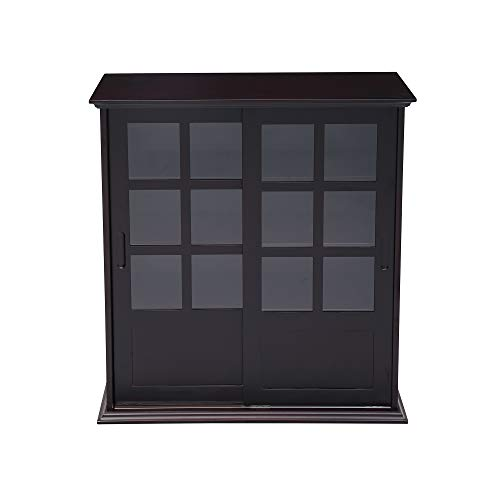 sliding glass case china cabinet - 7