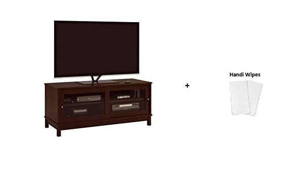 Amazon Com Mainstay Tv Stand With Sliding Glass Doors Resort