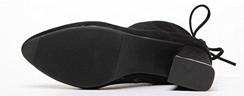 Abby 117-3 Damesritshort Moderne Jazz Hip Hop Dansboot Puntschoen Middenboven Sneakers Zwart