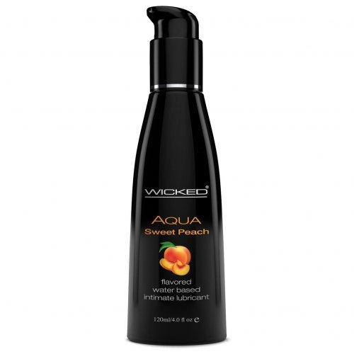 Wicked Lubes Aqua Sweet Peach Flavored Lubricant, 4 Ounce
