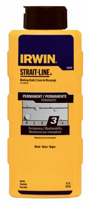 (Irwin Industrial Tool 64908 8-oz. Jet Black Powder Chalk - Quantity 6)