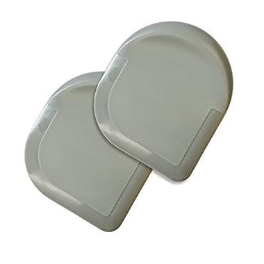 Happy Sales HSPS-G2, GREY Nylon Pan Scraper Set of 2