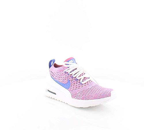 Nike Womens Air Ax Thea Ultra Fk Low Top Lace Up, Pink-Light Blue-Red, Size 8.0