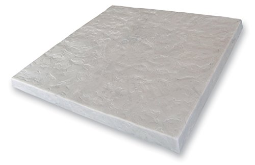 "EMSCO Group Flat Rock Paver Patio Stones 24-Pack – 16"" x 16"" Natural Slate Tile – Easy Installation ( Made of resin construction) by Emsco Group"