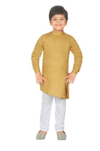 ahhaaaa Kids Indian Ethnic Collection Kurta and Pyjama Set for Boys_YEL421-2 ()