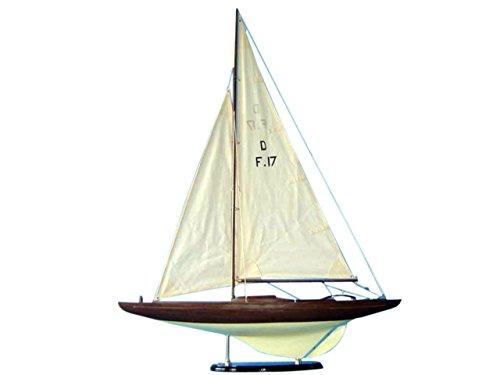 Hampton Nautical  Classic Dragon Keelboat Model Sailing Yacht Decoration 40