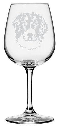 English Springer Spaniel Dog Themed Etched All Purpose 12.75oz Libbey Wine Glass