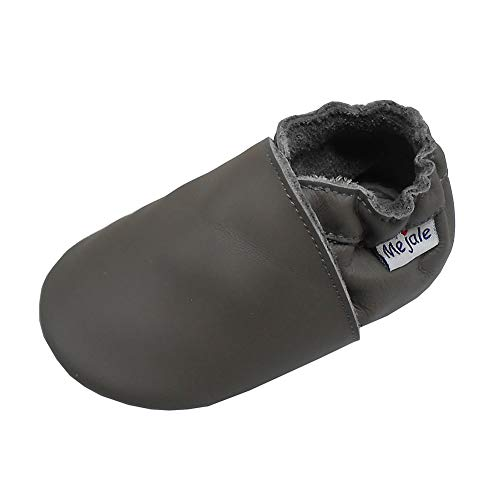 Mejale Baby Leather Shoes Infant Toddler Soft Sole Moccasins Shoes Boys Girls Pre-Walkers