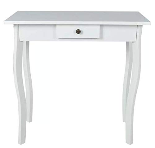 Console Table MDF White Stylish Excellent Elegant Space MDF 29'' x 14'' x 29'' SKB Family