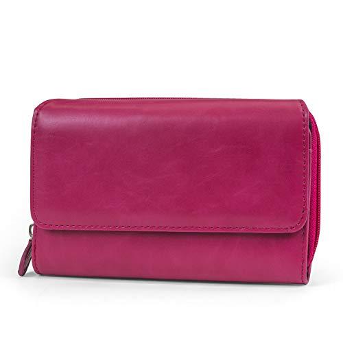 Mundi Big Fat Wallet Womens RFID Blocking Wallet Card Carrier Clutch Organizer (Rasberry)