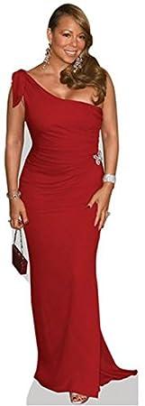 Mariah Carey (Red Dress) Grandeur Nature Celebrity Cutouts