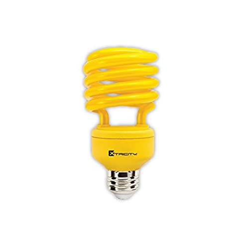 Xtricity 23-Watt Compact Fluorescent T2 Spiral CFL Bug Light (100 Watt Incandescent Equivalent) 120V, E26 Medium Base - Energy Saver (Yellow, Pack of - Yellow Cfl