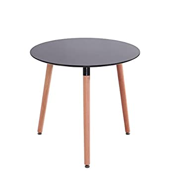 Mdf Inspiration Retro Esstisch Rund 80 Cm Durchmesser Schwarz Tisch ...
