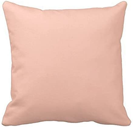 Caseworkshop Elegant Peach Apricot Solid Color Toss Cotton Pillow Case Throw Pillow Cover Decorative Cushion Cover For Sofa Couch 16x16 Inch Home Kitchen