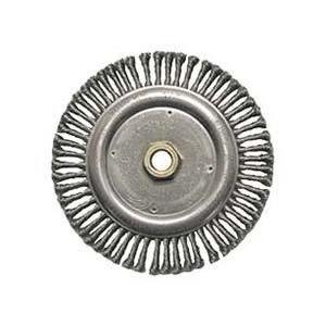 PART NO. WLC09000 Weiler 09000, 7'' Stringer Bead Knot Wire Wheel - Root Pass, 0.020'' Steel, 5/8-11 UNC Arbor