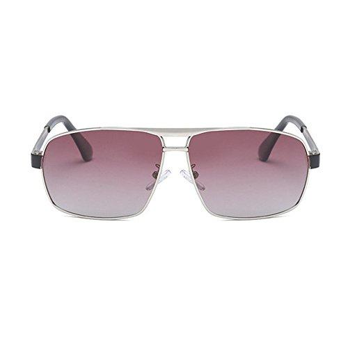 Aoligei sol de de conductor gafas de los sol de de hombres B color gafas espejo electrochapado conducción de Doble gafas polarización 1HSqwa1xrn