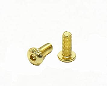 Color: Gold Plated M3x6mm Vehicles-OCS 50PCS 12.9 Level Half Round Head Inner Hex Screws M3 Hexagonal Screw Bolts Nut Screw Nut for Frame RC Drone Aircraft Spare Parts